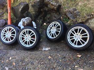 """Jantes 17"""" SPYN avec pneus Yokohama étaient sur CIVIC"""