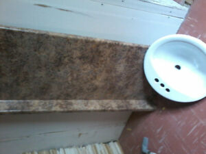 5 ft bathroom counter top and sink new