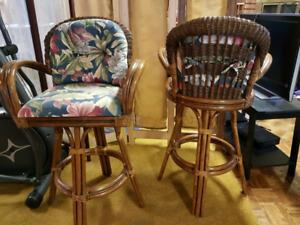 Rattan Bar stools/ Breakfast Bar stools