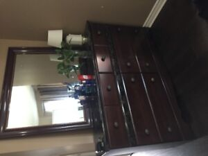 Bed Room Set with Dresser and Chester- Almost Brand NEW
