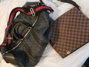 Louis Vuitton and and Gucci bag mens