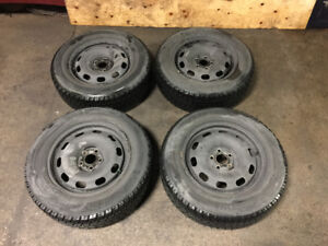 USED TOYO WINTER TIRES 15 INCH METAL RIMS 5 BOLT 195/65R15 280$