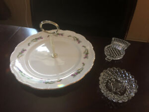 Thistle Serving Tray with Handle and 2 Thistle dishes