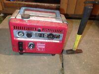 Honda generator E300E suitcase generator compact spares or repairs