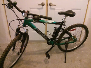 Raleigh full suspension MTB - medium frame Kitchener / Waterloo Kitchener Area image 1