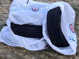 Two sets of tires for Chev Trax