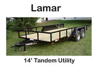 New 14 Tandem Utilty trailer