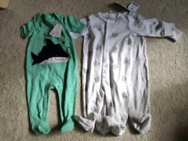 Sleepsuits 3-6m (new with tags)