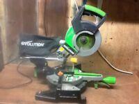 Evolution Fury 3 compound slide mitre chop saw
