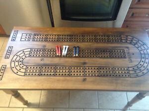 Crib board coffee table