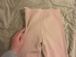Off pink textured leggings with side zipper Cambridge Kitchener Area image 2