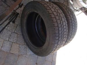 2 pneus hiver P255/55/18