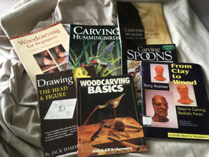 Books carving.plus a soapstone block for $20