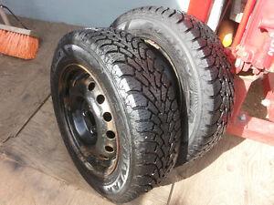 2 Tires & Suzuki Swift Rims - 185/65R14 Goodyear Nordic Winter