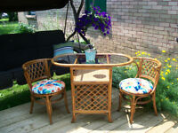 GORGEOUS OUTDOOR BAMBOO 3 PIECE SET *** CAN DELIVER
