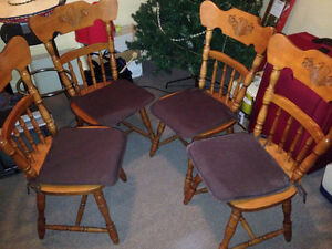 Solid Oak Chairs For Sale 80$