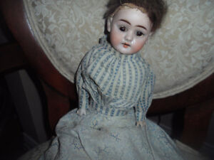 Antique German Bisque Doll with Original Clothing