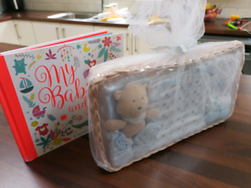 Baby gift set and book brand new