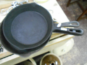 Cast Iron Frying Pans $8 to $18