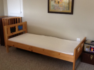 IKEA Solid Pine Toddler Bed