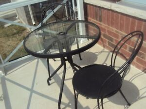 Bistro Table and with 2 chairs - perfect for indoor or outdoor