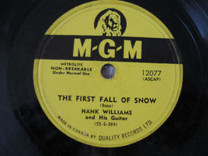 Hank Williams 78- First Fall Of Snow/Someday You'll Call My Name