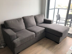 Grey Sofa Bed Sectional Couch!
