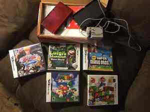 Nintendo 3DS console and super mario 2 3ds and other game