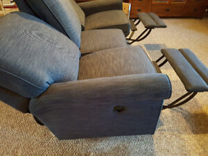 NEW: Lazy Boy Couch with Reclining End Seats - Wall Away Style