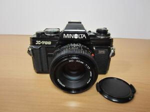 Minolta X-700 35mm SLR Camera w/Minolta MD 50mm f1.7 Lens