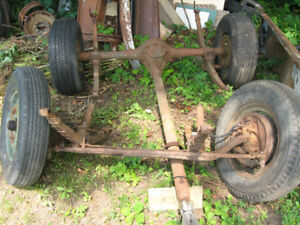 1949 Chevrolet pickup, front and rear suspension, axles, brakes