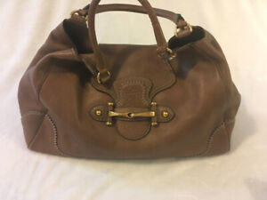 Gucci brown leather satchel. Great condition