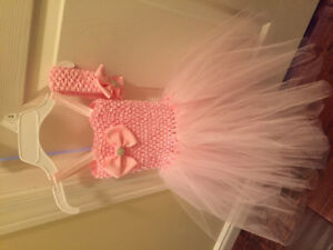 Baby girl tutu dress with matching headband