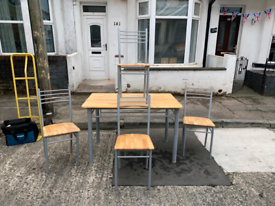 Maplewood dining room table and 4 chairs £75