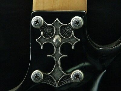 CUSTOM CROSS NECK PLATE COVER FOR BC RICH WARLOCK WARBEAST GUITAR solid metal !!