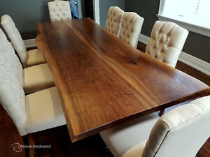 Live Edge Table Walnut Slab Dining Custom Wood