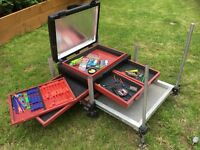 Fishing tackle seatbox continental style