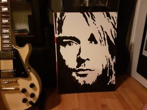 Kurt Cobain Original Art on 18 x 24 Board NIRVANA