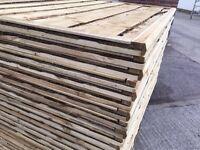 🔨🌟Superb Quality Waneylap Heavy Duty Tanalised Fence Panels