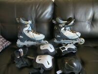 Firefly blades size 9 with elbow and knees pads