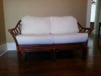 Quality Natural Rattan/Bamboo love seats like new