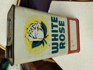 Antique white rose oil can