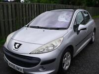 Peugeot 207 1.4 16v 90 SE Low Mileage / Mot for 1 year