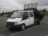 2010 60 FORD TRANSIT 2.4TDCi DURATORQ 100PS 350 LWB DOUBLE CREW CAB TIPPER TRUCK