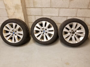 3 pneus et jantes d'Hiver BMW