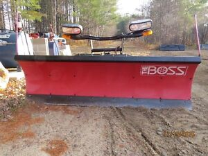 "Boss 7'6"" POLY PLOW with back drag"