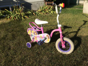 Little Girl's Disney Princess Bike with Training Wheels