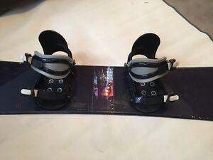 Snowboard with bindings 130 cm.  made in Austria