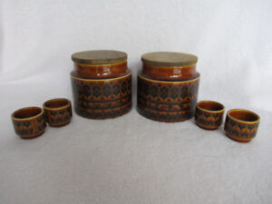Vintage Sugar & Coffee Canister with 4 egg cups