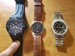 2 Mens Watches for Sale: Guess, Sekonda